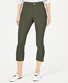 INC Ruched-Hem Cropped Pants, Created for Macy's