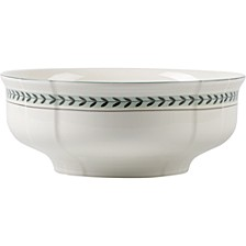 French Garden Green Lines Round Vegetable Bowl