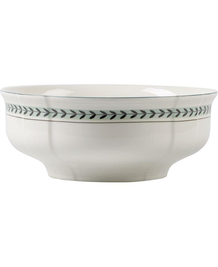 Villeroy & Boch - French Garden Green Lines Round Vegetable Bowl