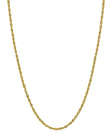 """Singapore Link 16"""" Chain Necklace (1.1mm) in 18k Gold"""