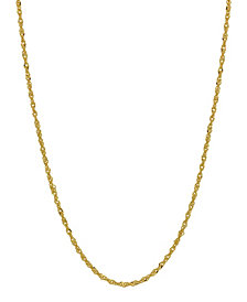 "Singapore Link 16"" Chain Necklace (1.1mm) in 18k Gold"