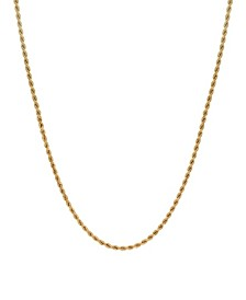 "Rope Link 22"" Chain Necklace (2.5mm) in 18k Gold"