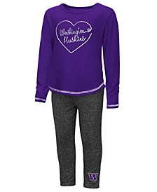 Washington Huskies Legging Set, Toddler Girls (2T-4T)