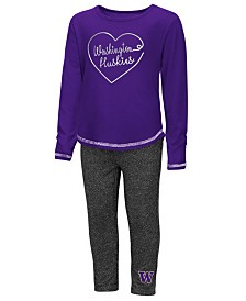 Colosseum Washington Huskies Legging Set, Toddler Girls (2T-4T)