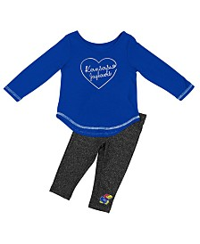 Colosseum Kansas Jayhawks Legging Set, Infants (12 months)