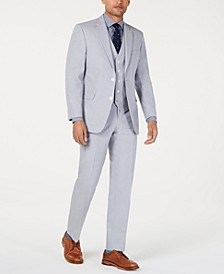 Men's Modern-Fit THFlex Stretch Light Gray Chambray Suit Separates