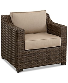 Camden Wicker Outdoor Club Chair, Created for Macy's
