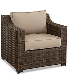 Camden Aluminum Outdoor Club Chair, Created for Macy's