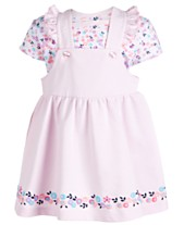 12a94d4d38c5 First Impressions Baby Girls 2-Pc. Bodysuit   Printed Jumper Set
