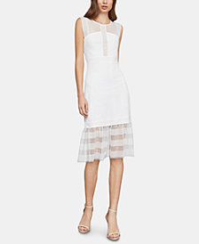 BCBGMAXAZRIA Mixed-Lace Illusion Dress