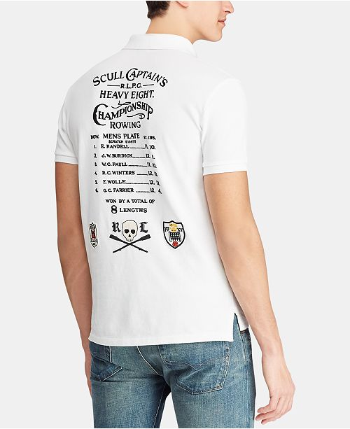 Polo Ralph Lauren Men's Custom Slim Fit Mesh Polo Shirt, Created for Macy's