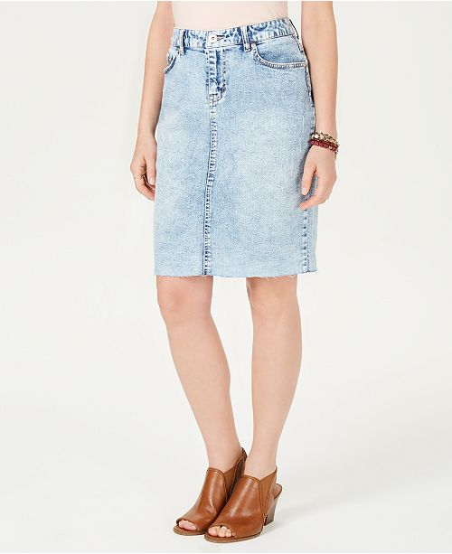 2ff6ab09c7 Style & Co Denim Skirt, Created for Macy's & Reviews - Skirts ...