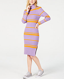 Moon River Striped Bodycon Sweater Dress