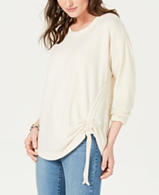 Style & Co Ruched-Tie Top, Created for Macy's