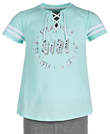 Ideology Big Girls Graphic-Print Lace-Up Top, Created for Macy's