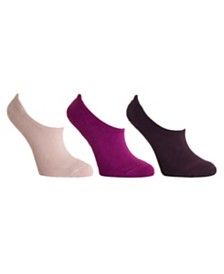DKNY Sport Women's 3-Pk. Cushioned Ultra No-Show Socks