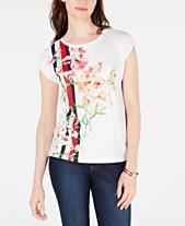 288079398a1 Tommy Hilfiger Crewneck Floral-Vine Printed T-Shirt