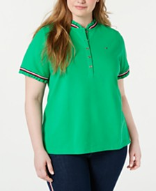 Tommy Hilfiger Plus Size Ruffled Piqué Polo