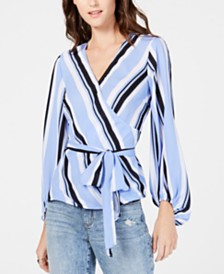 I.N.C. Bold Striped Blouse, Created for Macy's