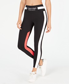 5d25eba57dff03 Calvin Klein Performance 7 8 Colorblocked High-Waist Leggings
