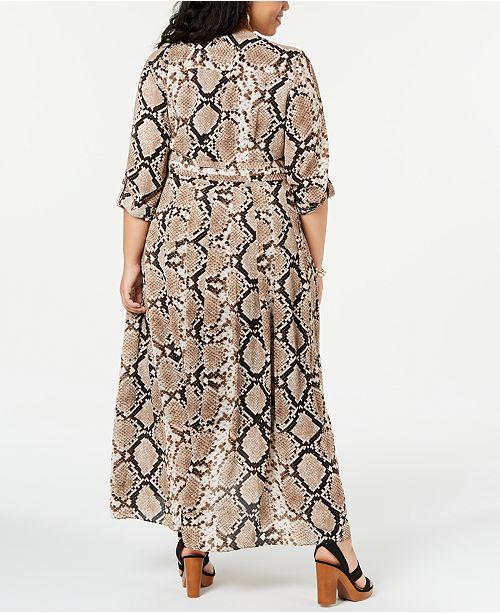 Beauty wrap Size longue fausse Robes Inc International Robe imprimee serpentCree Plus Tailles pourAvis Venom mi Concepts Ybf7yvg6