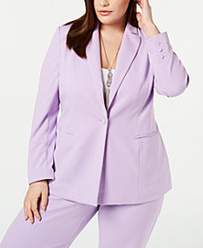 I.N.C. Plus Size One-Button Blazer, Created for Macy's