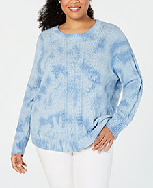 I.N.C. Plus Size Chunky Cable-Knit Sweater, Created for Macy's