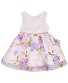 Rare Editions Baby Girls 3D Floral Dress