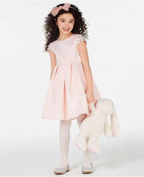 Rare Editions Toddler Girls Beaded Sleeve Dress