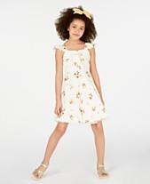 Beautees Big Girls Sunflower-Print Skater Dress d60e71679