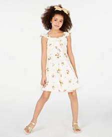 Beautees Big Girls Sunflower-Print Skater Dress