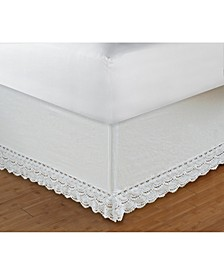 "Crochet Lace Bed Skirt 18"" Twin"