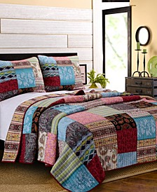 Bohemian Dream Quilt Set, 3-Piece Full - Queen