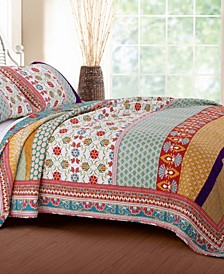 Thalia Quilt Set, 3-Piece Full - Queen