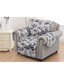 Classic Toile Furniture Protector Arm Chair