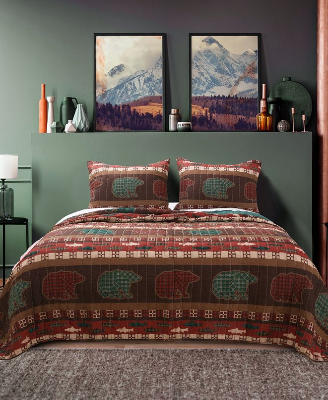 Greenland Home Fashions Canyon Creek Quilt Set, 2-Piece Twin