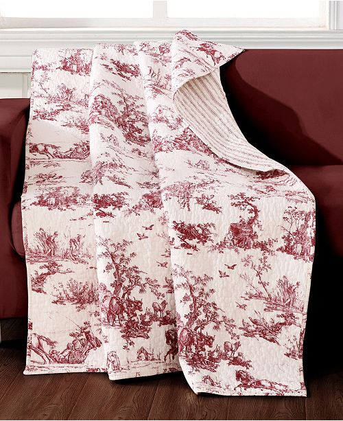 """Greenland Home Fashions Classic Toile Throw 50"""" x 60"""""""