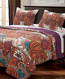 Nirvana Spice Quilt Set, 3-Piece King