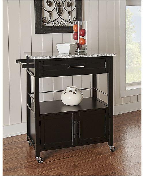 Linon Home D 233 Cor Cameron Kitchen Cart With Granite Top