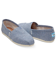 TOMS Alpargata Patterned Slip On Flats