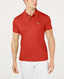 96ef09f7e Lacoste Men s Slim-Fit Polo   Reviews - Polos - Men - Macy s