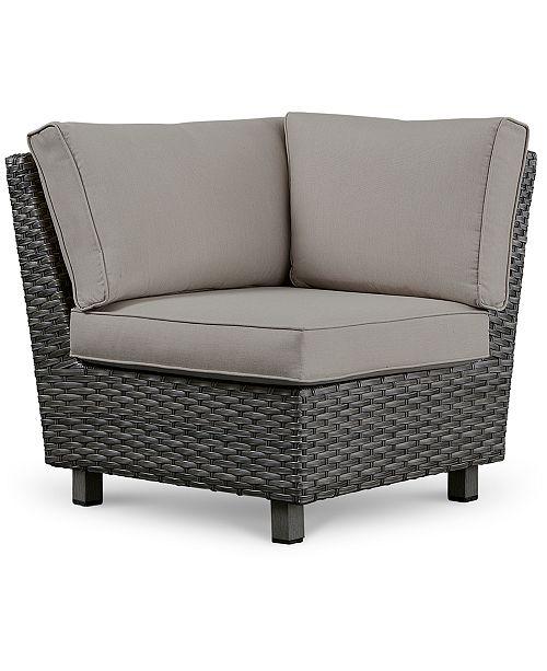 Furniture Lake Toba Aluminum Outdoor 3 Pc Sectional Seating Set 1 Left