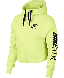 Nike Air Fleece Zip Cropped Hoodie