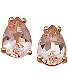 Morganite (1 ct. t.w.) Stud Earrings in 14k Rose Gold