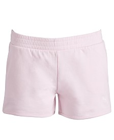 Puma Big Girls French Terry Pull-On Shorts