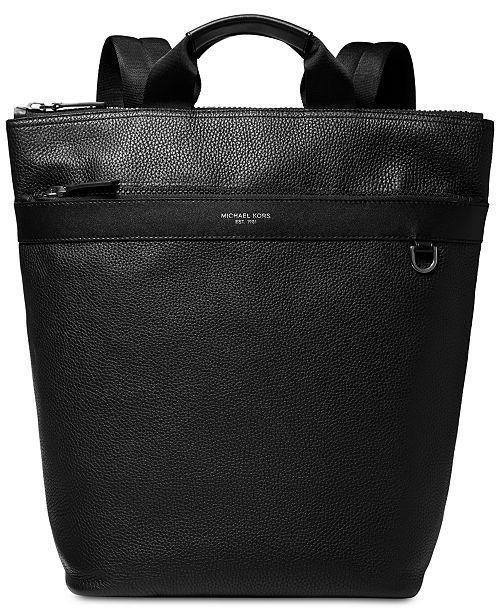 419de80f621c0e Michael Kors Men's Greyson Slim Leather Backpack Tote & Reviews ...