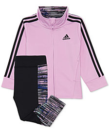 adidas Toddler Girls 2-Pc. Track Jacket & Printed Tights Set