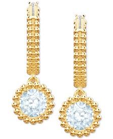 Hoop & Crystal Drop Small Earrings