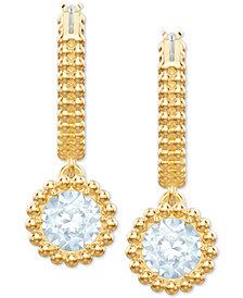 Swarovski Hoop & Crystal Drop Earrings