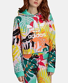 adidas Originals Cotton Cropped Hoodie